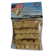 Wholesome Hide Carrot Chunkees USA Rawhide Dog Chews, 6-oz Bag