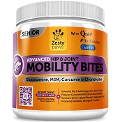 Zesty Paws Advanced Hip & Joint Mobility Bites Senior Dog Supplement, 90 count
