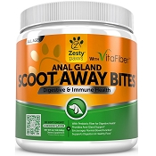 Zesty Paws Anal Gland Scoot Away Bites with VitaFiber Dog Chews, 90 count