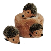 ZippyPaws Burrow Hide and Seek Hedgehog Den Squeaky Plush Dog Toy