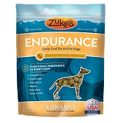 Zuke's Enhance Endurance Peanut Butter Formula Supplement Chews for Dogs, 5-oz Bag