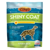 Zuke's Enhance Shiny Coat Chicken Formula Supplement Chews for Dogs, 5-oz Bag