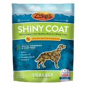 Zuke's Enhance Shiny Coat Peanut Butter Formula Supplement Chews for Dogs, 5-oz Bag