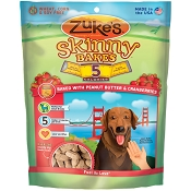 Zuke's Skinny Bakes Baked with Peanut Butter & Cranberries Dog Treats, 12-oz bag