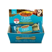 Zuke's Z-Bone Dental Chew with Apples Dog Treats, Regular, 18-Count