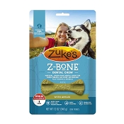 Zuke's Z-Bone Dental Chew with Apples Dog Treats, Regular, 8-Count