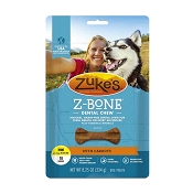 Zuke's Z-Bone Dental Chew with Carrots Dog Treats, Mini, 18-Count