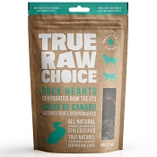 True Raw Choice Duck Hearts Dehydrated Dog Treats, 2.1-oz Bag
