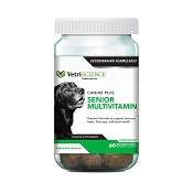 VetriScience Canine Plus Senior Multivitamin Everyday Health Bite-Sized Dog Soft Chews, 60 count