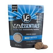 Vital Essentials Mini Beef Patties Freeze-Dried Dog Food