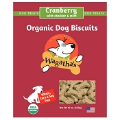 Wagatha's Cranberry with Cheddar and Mint Organic Dog Biscuits, 16-oz Box