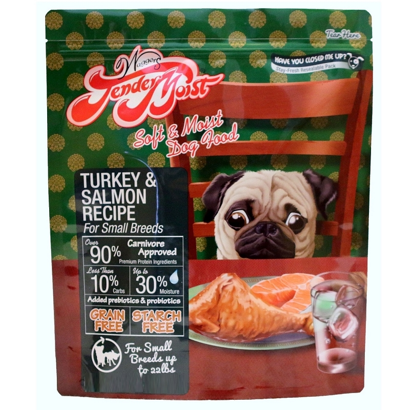 Waggers Tender Moist Turkey & Salmon Recipe Dog Food | NaturalPetWarehouse.com