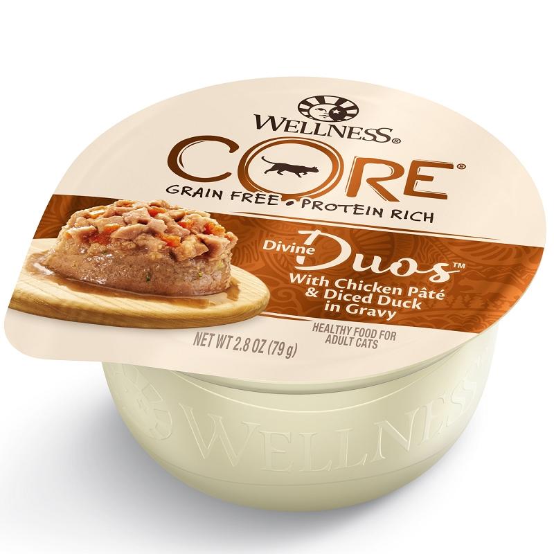 Wellness Divine Duos Chicken Pate Diced Duck Grain Free