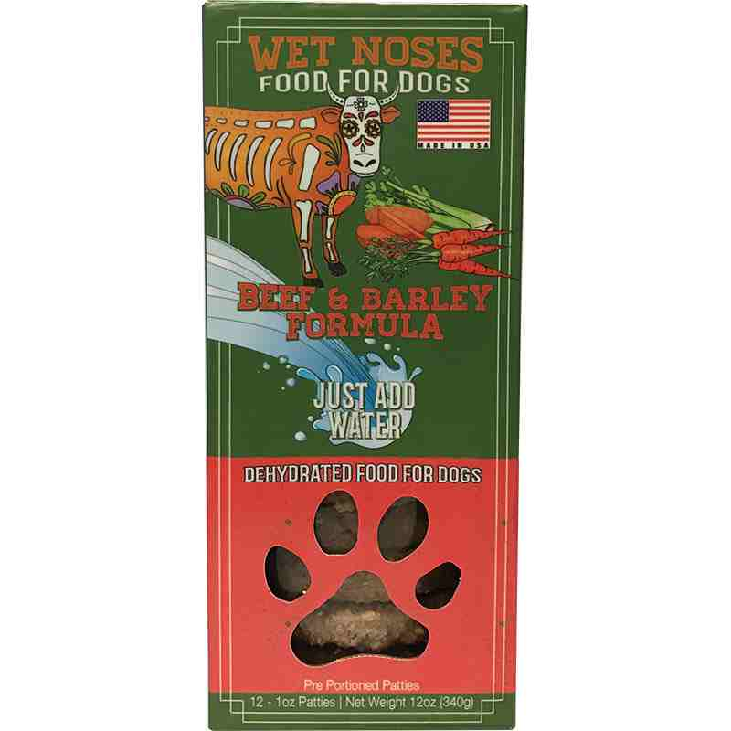 Wet Noses Beef Amp Barley Dehydrated Patties Dog Food 12