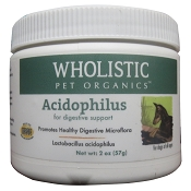 Wholistic Pet Organics Acidophilus Probiotics for Dogs & Cats, 2 oz