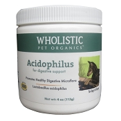 Wholistic Pet Organics Acidophilus Probiotics for Dogs & Cats, 4 oz