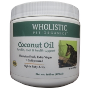 Wholistic Pet Organics Extra Virgin Coconut Oil for Dogs and Cats
