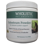 Wholistic Pet Organics Colostrum Powder Dog Supplement