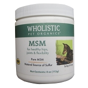 Wholistic Pet Organics MSM Dog Supplement