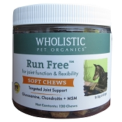 Wholistic Pet Organics Run Free Soft Chews Dog Supplement