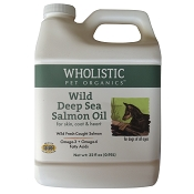 Wholistic Pet Organics Wild Deep Sea Salmon Oil Dog Supplement, 32-oz