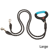 Wigzi dual Doggie Gel Rope Dog Leash, Large, 4.5'