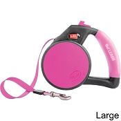Wigzi Retractable Gel Leash for Dogs, Pink, Large