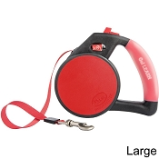 Wigzi Retractable Gel Leash for Dogs, Red, Large