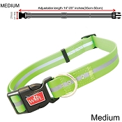 Wigzi Waterproof Dog Collar, Green, Medium
