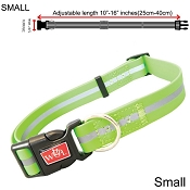 Wigzi Waterproof Dog Collar, Green, Small