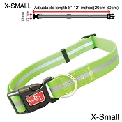 Wigzi Waterproof Dog Collar, Green , X-Small