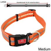 Wigzi Waterproof Dog Collar, Orange, Large