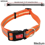 Wigzi Waterproof Dog Collar, Orange, Medium