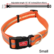 Wigzi Waterproof Dog Collar, Orange, Small