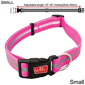 Wigzi Waterproof Dog Collar, Pink, Small