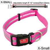 Wigzi Waterproof Dog Collar, Pink, X-Small