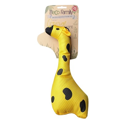 Beco Pets George the Giraffe Eco-Friendly Plush Dog Toy, Medium