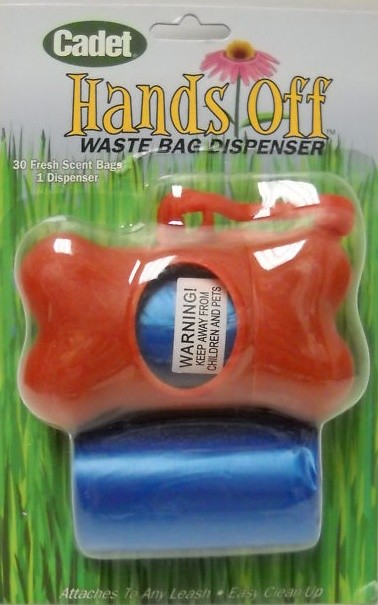 Hands Off Dog Waste Bag Dispenser Red