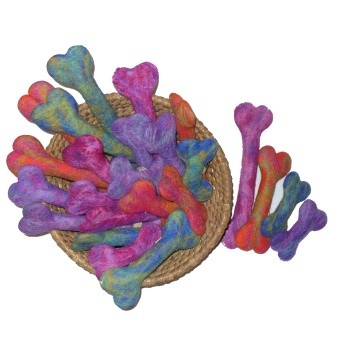 Discontinued, A Cheerful Pet Bonzees Wool Dog Toy - Small