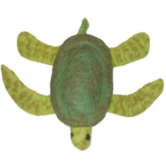 Discontinued, A Cheerful Pet Sea Turtle Wool Dog Toys - Large