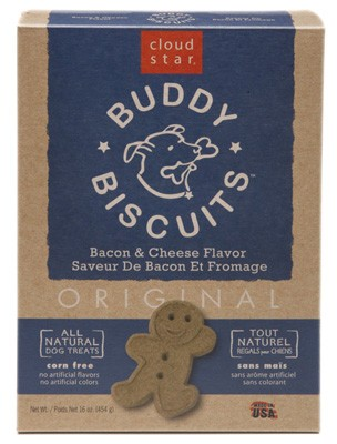 Cloud Star Original Oven Baked Buddy Biscuits Bacon & Cheese Flavor Dog Treats