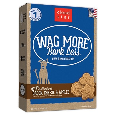 Cloud Star Wag More Bark Less Oven Baked with Bacon, Cheese & Apples Dog Treats, 16-oz box