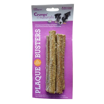 Crump's Naturals Plaque Busters Dental Dog Treats 5 Pack, 7