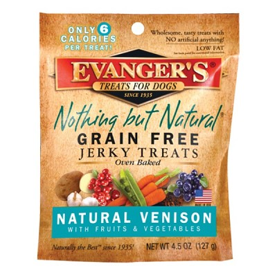 Evanger's Nothing But Natural Organic Venison with Fruits & Vegetables Grain-Free Jerky Dog Treats