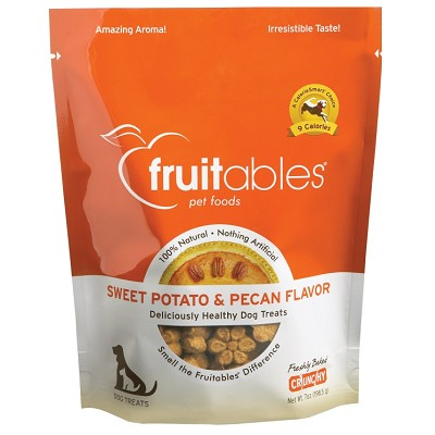 Fruitables Sweet Potato & Pecan Flavor Crunchy Dog Treats