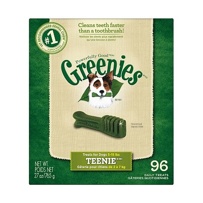 Greenies Teenie Dental Dog Treats, 96 Count