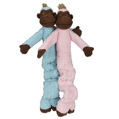 Discontinued, HuggleHounds Dog Toys Crunchy Monkey, Pink
