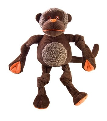 HuggleHounds Knottie Chimp Dog Toy, Large