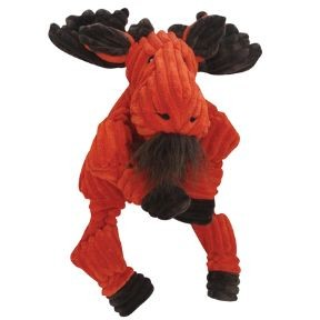 HuggleHounds Knotties Moose Dog Toy, Small