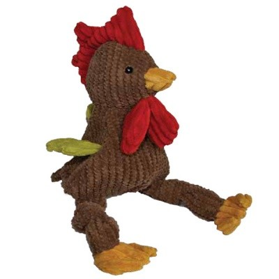 HuggleHounds Knottie Rooster Dog Toy, Small